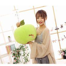 9848ac3f5 Criativo travesseiro brinquedo de pelúcia grande 35 cm fruit design apple  para baixo algodão muito macio