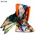 Women 100% Silk Scarf Neck Scarves Female Bandana For Vincent Van Gogh Oil Painting Classic Design Cocktail Party Shawl Tippet