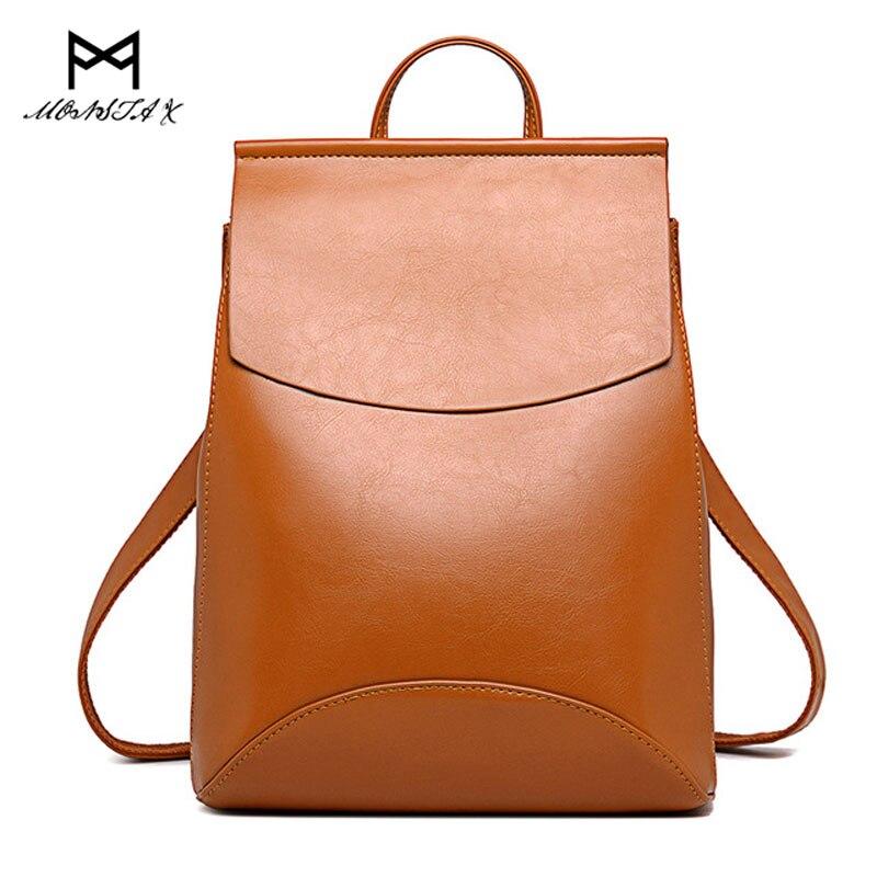 MONSTA X Fashion Women Backpack High Quality Youth Leather Backpacks for Teenage Girl Female School Shoulder Bag Bagpack Mochila