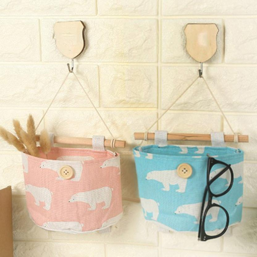 bag Kitchen Bathroom Sundries Storage Wall Door Toys Pockets Hang Pouch Organizer 12.8