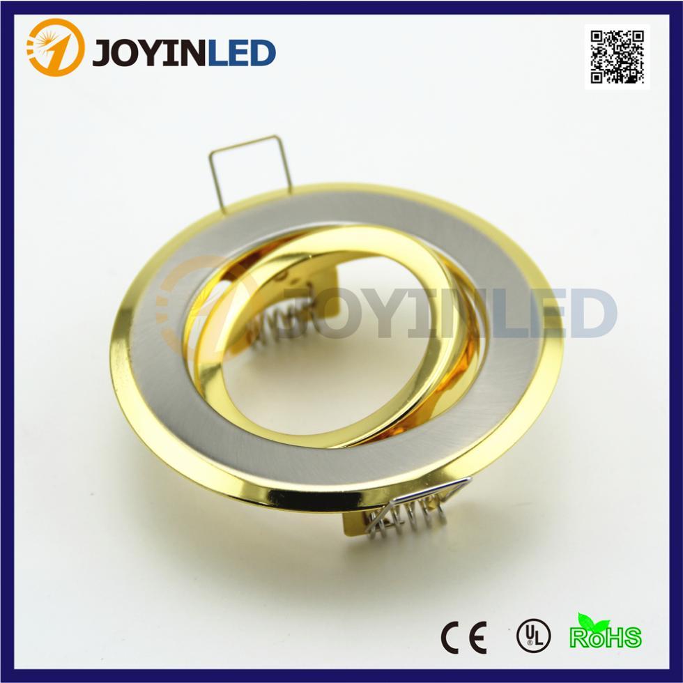 free shipping 10pcs gold round back ring fitting kit gu10. Black Bedroom Furniture Sets. Home Design Ideas