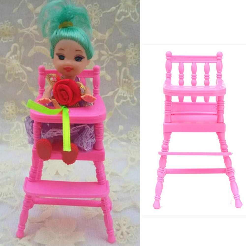Miniatura de plástico Duplo/Cama de Solteiro Cadeira de Móveis Para Casa De Bonecas de Brinquedo Mini Boneca Armário Sonho Jogar Brinquedos Casa Decoração Brinquedos presentes