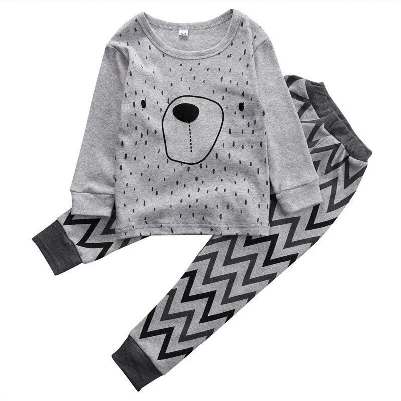 Nachtwäsche & Nachthemden Gut Ausgebildete 2 Teile/los Kinder Baby Pyjamas Jammies Anzug Kinder Warme Unterwäsche Baby Jungen Mädchen Schlafanzug Winter Cartoon Kleidung Nachtwäsche