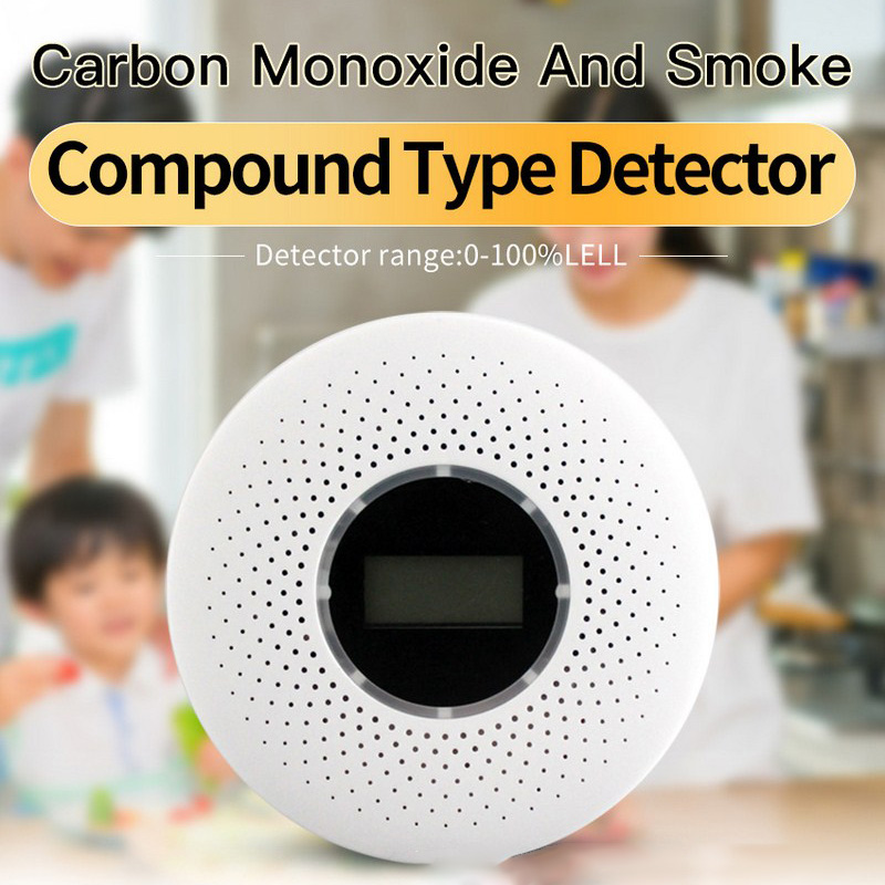 2 in 1 Smoke Fire CO Gas Detector CO Detector Gas Leak Detector with Sound and Light Alarm Gas Analyzer CO Monitor Sensor2 in 1 Smoke Fire CO Gas Detector CO Detector Gas Leak Detector with Sound and Light Alarm Gas Analyzer CO Monitor Sensor