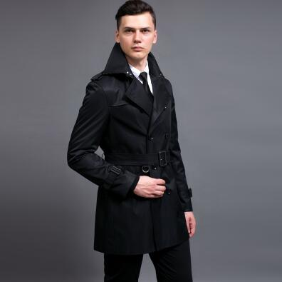 Fashion slim sexy short trench coat men overcoat long sleeve mens ...