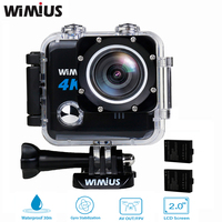Wimius 4k Action Camera Wifi Wirless Professional Mini Video Sport Helmet FPV Camera Full HD Go