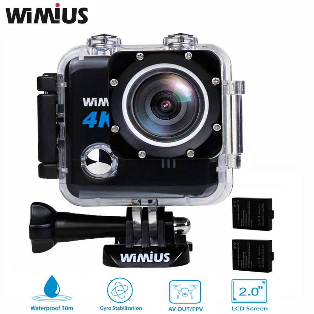 цены Wimius 4k Action Camera Wifi Wireless Professional Mini Video Sport Helmet FPV Camera Full HD Waterproof 30m Underwater Car DVR