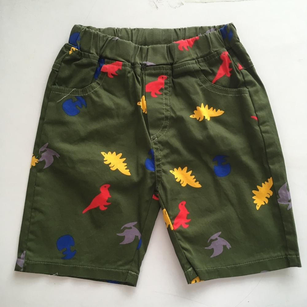 2-10y Kinder Baby Jungen Floral Druck Shorts Casual Kp-1918