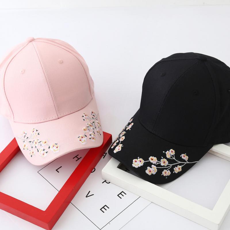 Nuevo para hombre mujer niños Plum blossom flor bordado gorra de béisbol  ajustable sombreros en Gorras de béisbol de Deportes y ocio en  AliExpress.com ... 8e5384b9b31