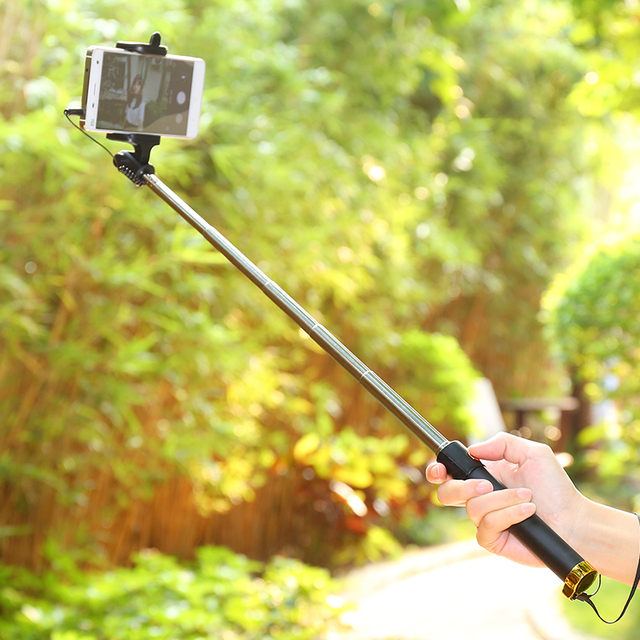 for Iphone X XR XS MAX Wired Selfie Stick Selfie Monopod for iphone X 8 7 6 plus 5 5s Wired Photograph Tripod Extendable Selfie