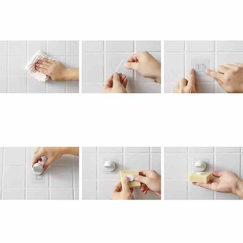 Kuchnia łazienka prysznic klej do ściany drążek prysznicowy magnetyczne mydelniczka dozownik mydło w płynie mydelniczki montowany na ścianie
