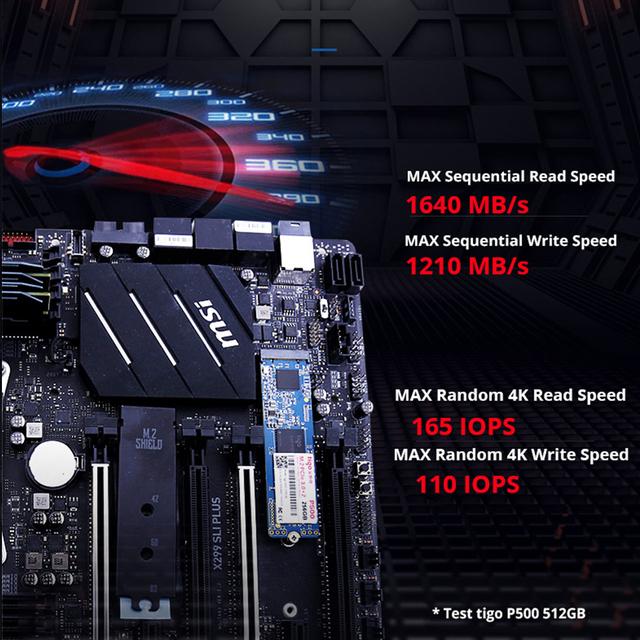 Tigo 256GB SSD PCIe M.2 NVMe 2280 Internal Solid State Drive PCI-e 3.0 x2 Desktop Laptop PC P500 HDD Internal hard drive