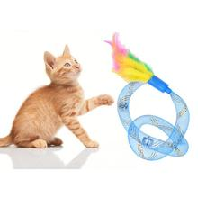 Funny Pet Dog Cat Toy Flexible Spring Toy Cats Kitten Interactive Toys for Cats Gatos