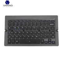 Portable Aluminum Alloy Mini Keyboard Folding Wireless Bluetooth Keyboard Rechargeable Keyboard For PC Computer Laptop