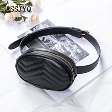 new waist bag Ms fanny pack  round luxury Crossbody leather chest Waist fashion high quality Cell phone pocket wallet
