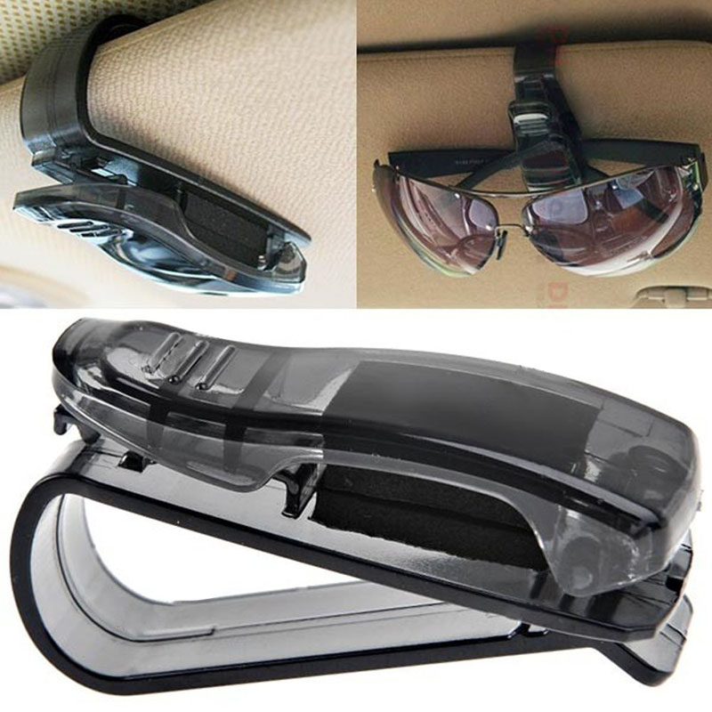 2017 Hot Car Sun Visor Glasses Sunglasses Ticket Receipt Card Clip Storage Holder Storage Shelf Car Organizer Accessories Platic universal car sun visor sunglasses ticket business card holder clip portable car glasses cases abs
