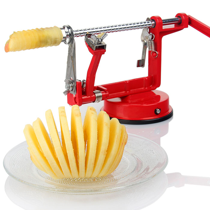 3 All 1 Apple Peeler Slicing Machine Creative Kitchen Stainless Steel Fruit Cutter Machine Peeled Tool