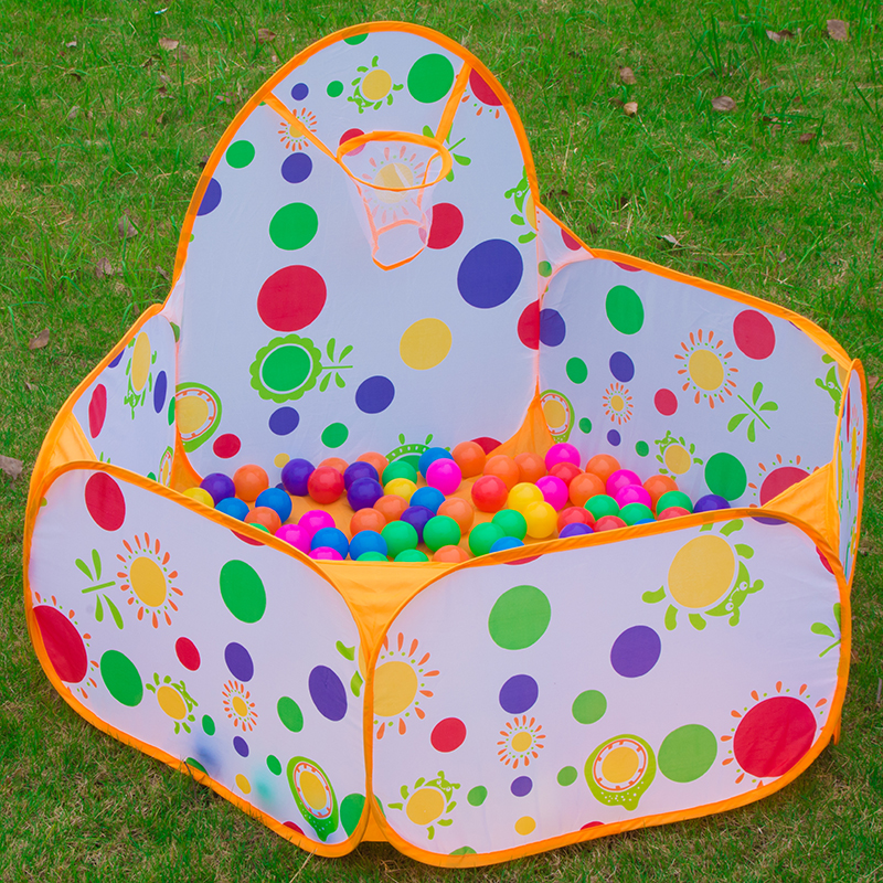 Polka Dot Toy Tents Kids Portable Ball Pool Playpen Shoot Basketball Ball Play Pool Folding inflatable playpen House Toy Tent
