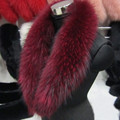 Real Raccoon Fur Scarves Woman 100% Pure Natural Raccoon Fur Collar Warm Winter Scarves Red Fox Fur Collar L#1