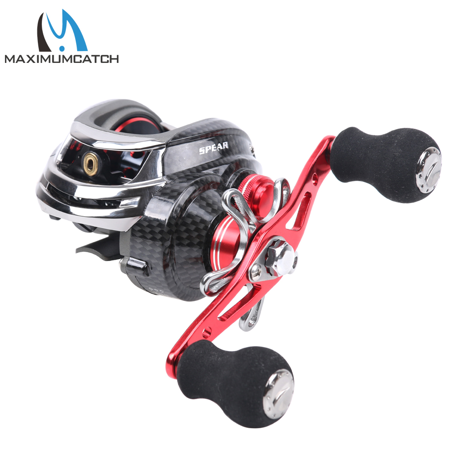 Maximumcatch DM-120 Baitcasting Reel 11Ball Bearings Left and Right Hand Bait Casting Fishing Reel kastking spartacus low profil baitcasting reel 12 ball bearings 205g right hand left hand fishing reel