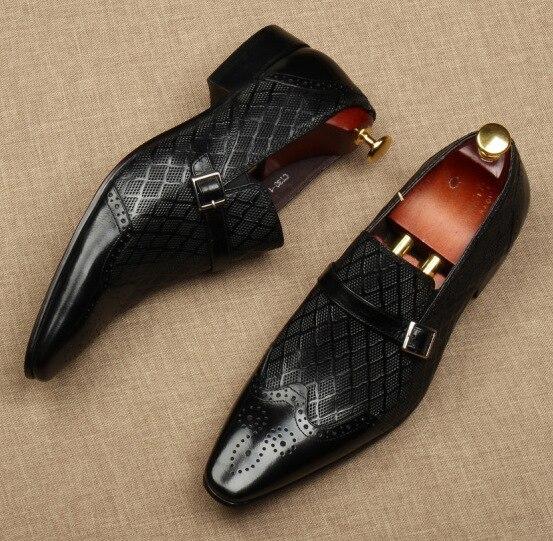 Qyfcioufu plana itália artesanal sapatos formais homens
