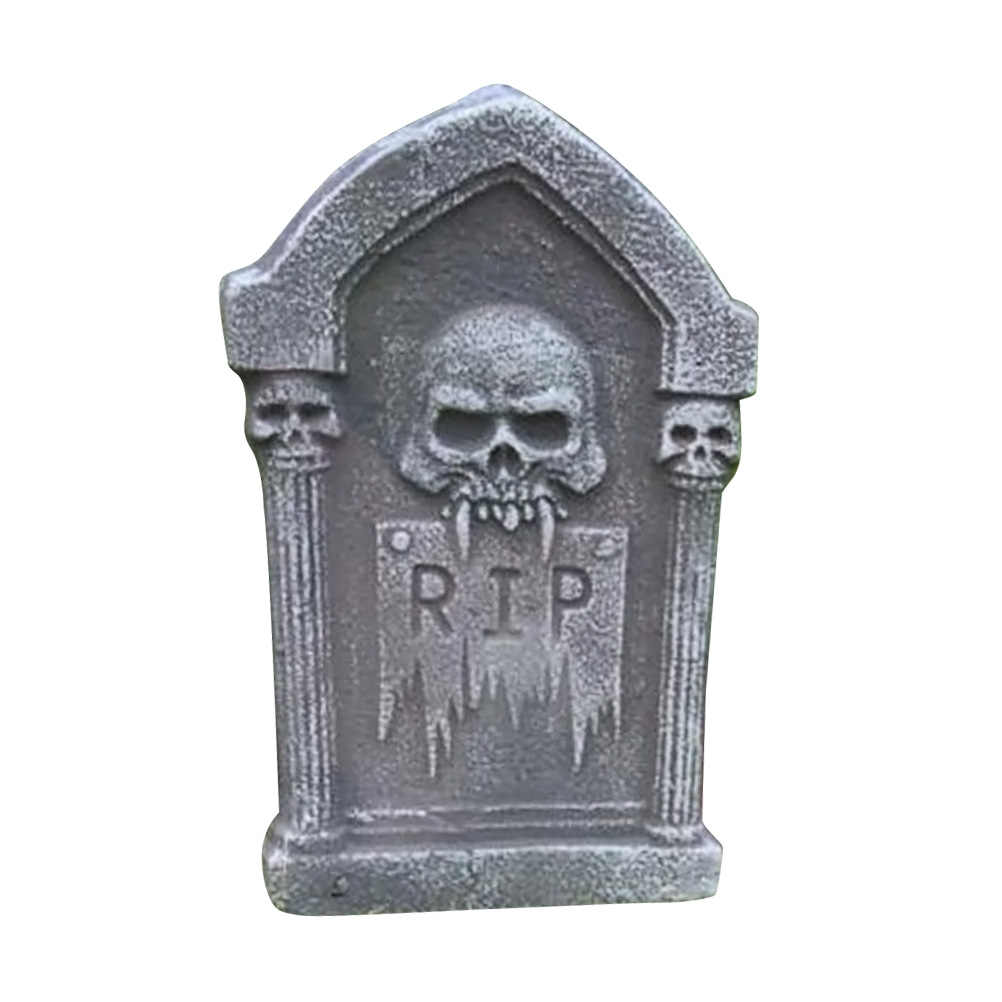 1pcs Foam Tombstone Creative Attractive Skeleton Decorative Grisly Halloween Tombstone for Party Decor Haunted House Props