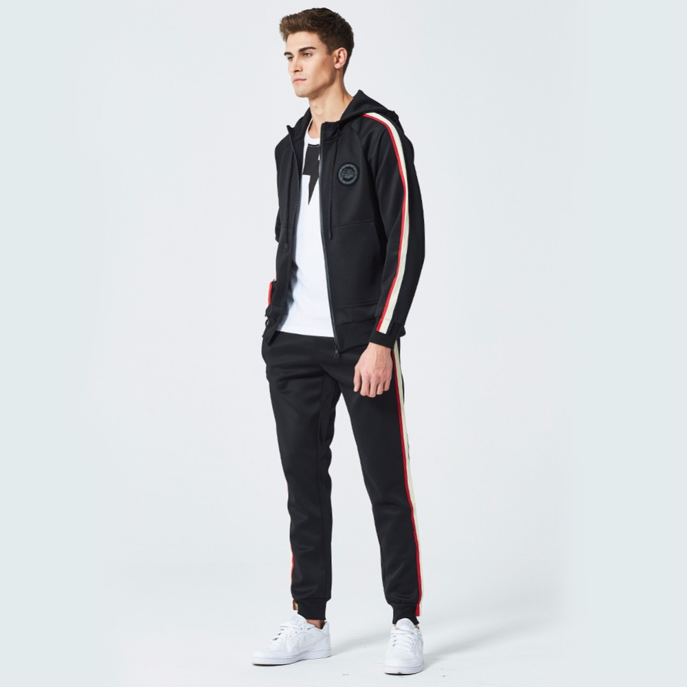 AmberHeard Spring Autumn Men Sporting Suit Set Hoodies Jacket Pants Tracksuit Two Piece Set For Men Sweatsuit Joggers Clothing in Men 39 s Sets from Men 39 s Clothing