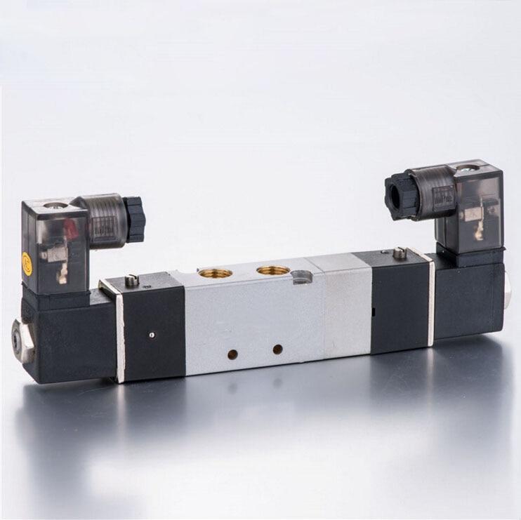 Airtac 4V3 Series Reverse Solenoid Valve 5/3 Way 4V330E-08 1/4 DC24V AC220V airtac new original authentic solenoid valve 4v230e 08 dc24v