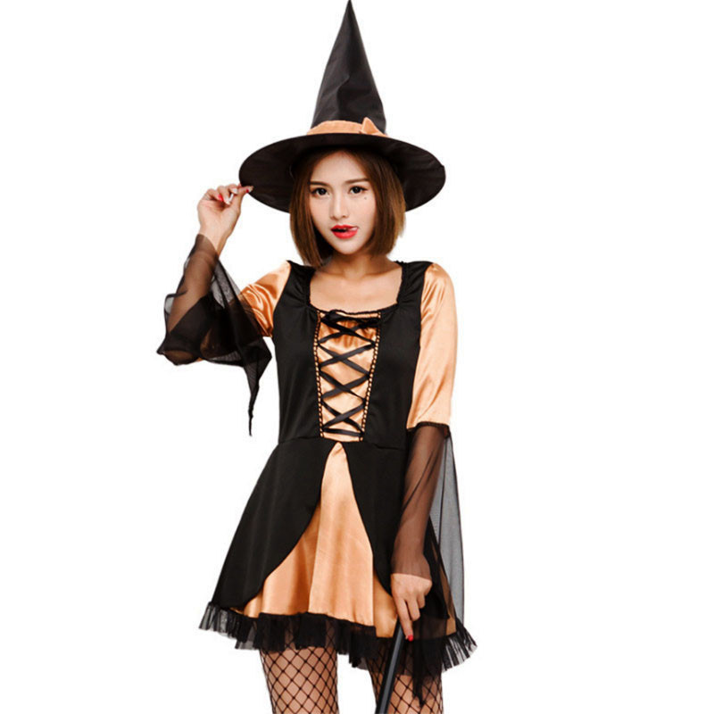 witch cute princess clothing bar theme party dress Women Cosplay Costumes 2018 new high quality Sexy witch costume Halloween
