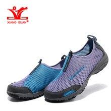 XIANGGUAN Woman Beach Aqua Shoes Women Lycra Trainers Purple Summer Water Sports Boating Wading Shoe Outdoor Walking Sneakers