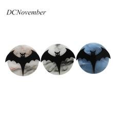 Halloween Bat Brooches Women Men Acrylic All Saints Day pumpink Handmade Brooch Pin