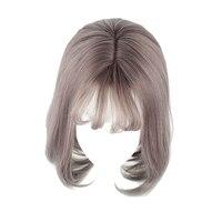 MCOSER 35 cm Korte Kleur Gemengde Synthetische Air Bang Cosplay Party vrouwen Pruik 100% Hoge Temperatuur Fiber Hair WIG-635D