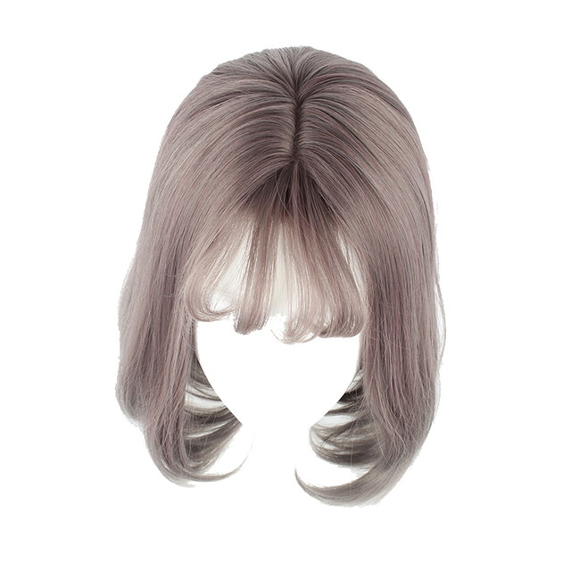 MCOSER 35cm Short Color Mixed Synthetic Air Bang Cosplay Party Women s Wig  100% High Temperature Fiber Hair WIG-635D 05283229f