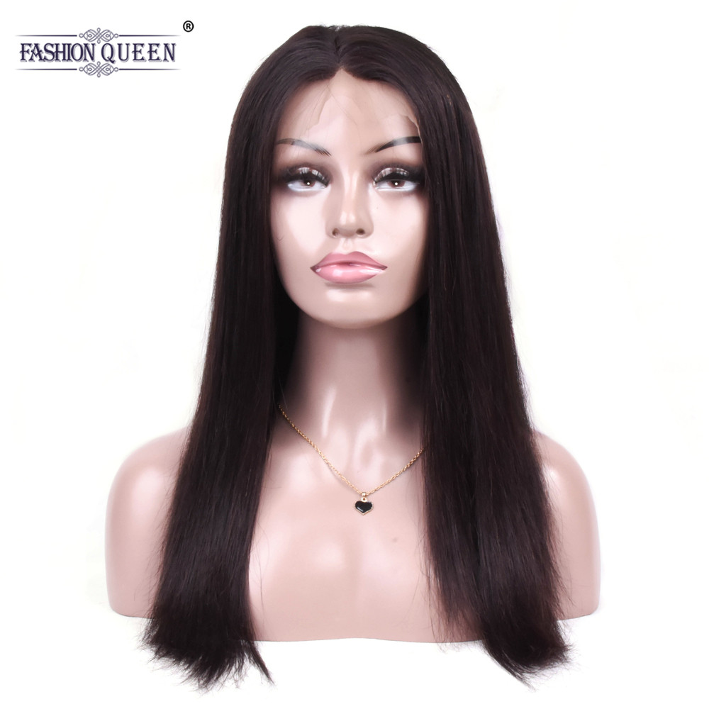 360 Lace Frontal Wig 130 Density Brazilian Straight Human Hair Wigs For Women Matural Hairline with