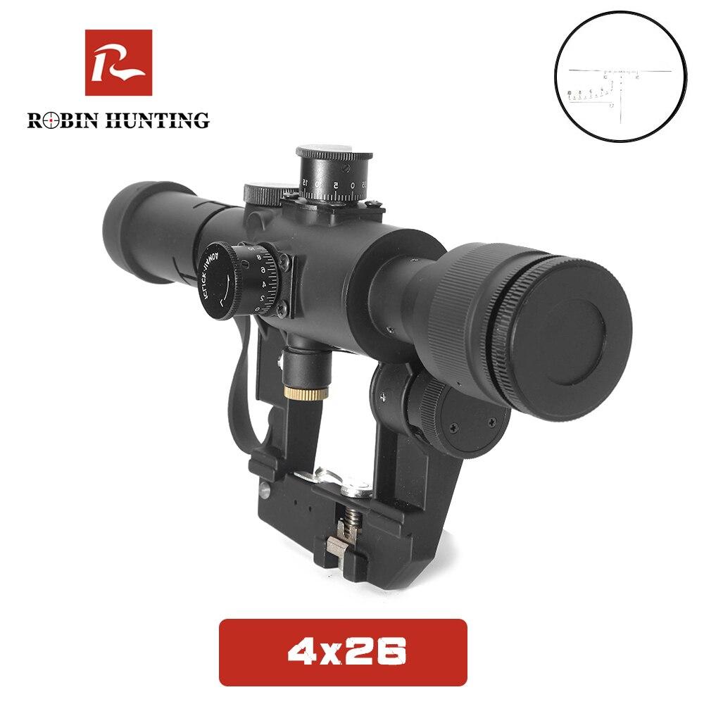 SVD 4x26 optique chasse lunette de visée Dragunov rouge illuminé Sniper fusil portée série AK fusil portée pour la chasse en plein air
