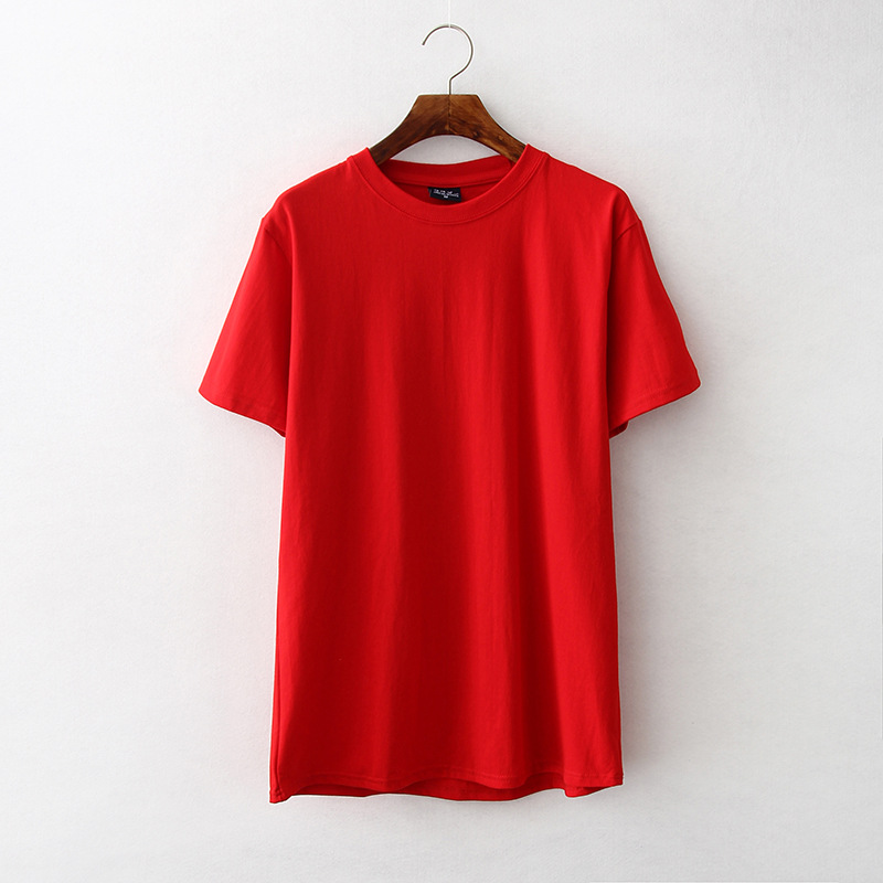 3025G/3026G/3024G Multicolor de algodón de manga corta cuello redondo Camiseta bordado de impresión