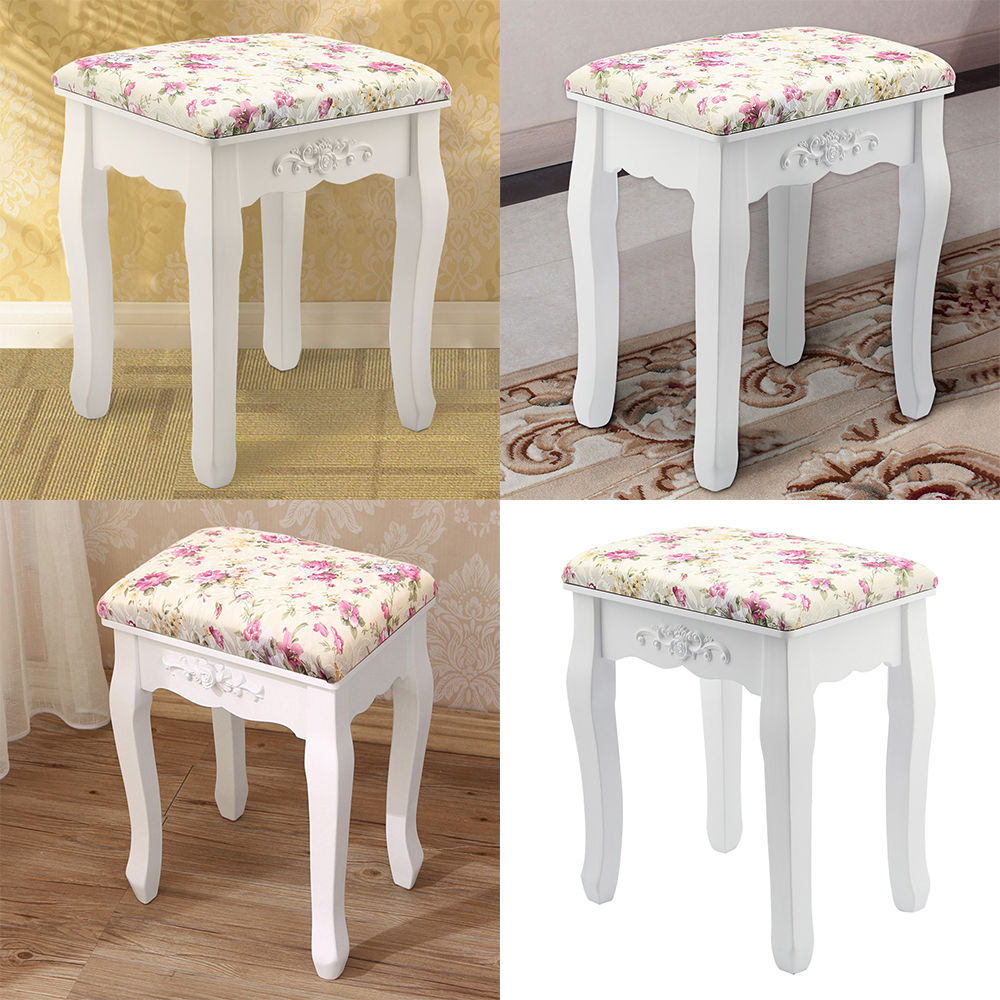 Home Piano Chair Rest Makeup Seat Baroque Vintage Dressing Table Stool Rose