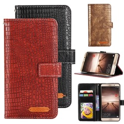 На Алиэкспресс купить чехол для смартфона gucoon fashion crocodile wallet for hisense rock 5 v f16 f25 case luxury pu leather phone cover bag case purse