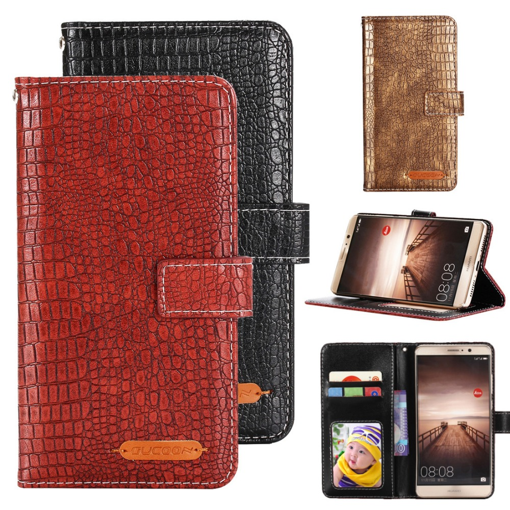 GUCOON Fashion Crocodile Wallet for Prestigio Wize OK3 PSP3468 DUO Case Luxury PU Leather Phone Cover Bag Quality Hand Purse image