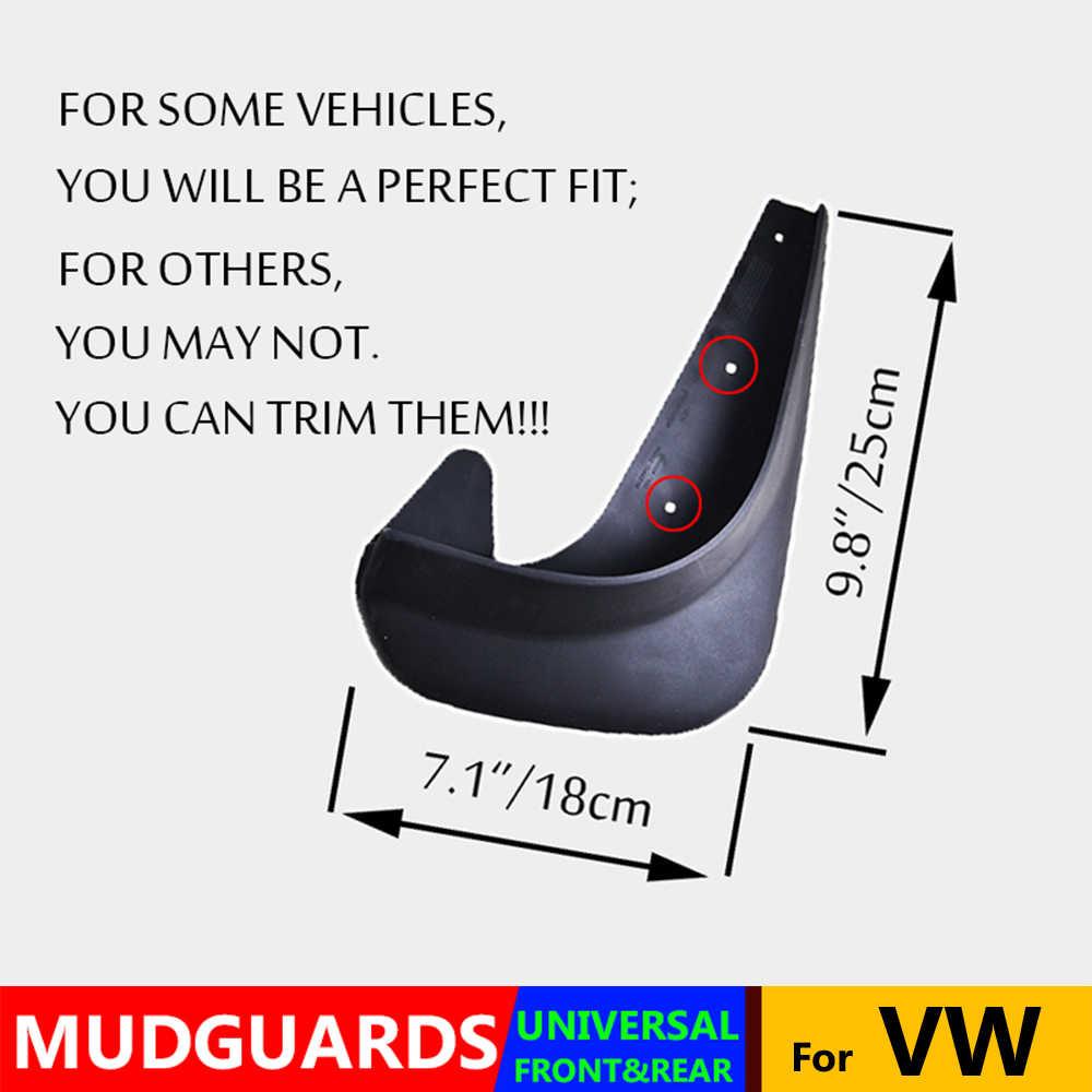 4x ユニバーサル泥フラップのためのフォルクスワーゲン VW ポロ Touran Caddy 6 シロッコ T-ロックアトラス Ameo Arteon Mudflaps スプラッシュガードマッドガード