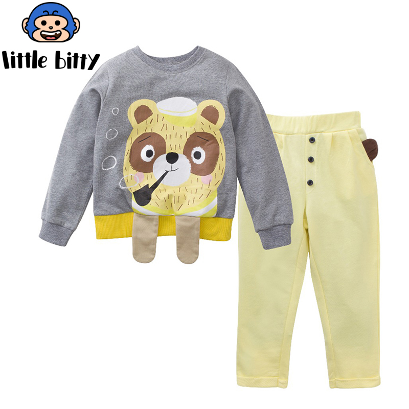 Boys Sets 100% Cotton Long Sleeve Tops +Pants 2017 Spring Autumn Children Clothing Sets Boys Clothes Kids Outfits Rated 2018 girls clothes sets long sleeve patchwork outfits kids tops