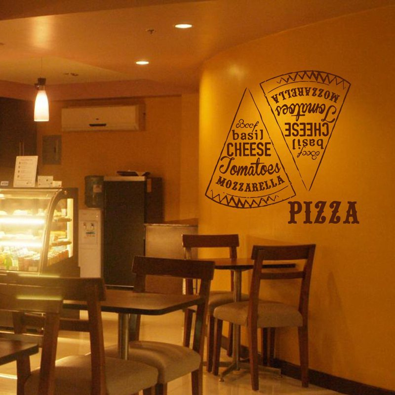 Pizza Decal Restaurant Sticker Posters Vinyl Wall Decals ...