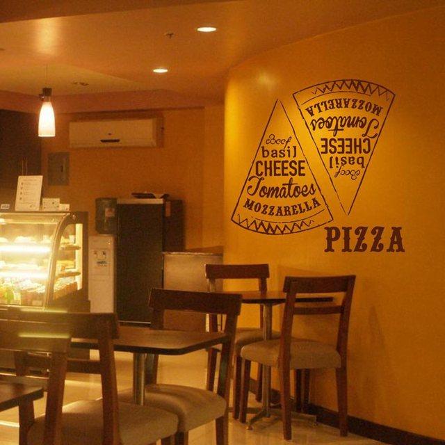 Aliexpress buy pizza decal restaurant sticker