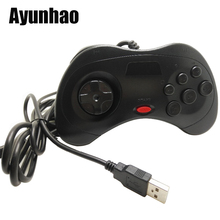 Classic Wired 6 Buttons SEGA USB Classic Gamepad USB Game Controller Joypad for SEGA Genesis/MD2 Y1301/ PC /MAC wired usb gamepad joystick for n64 classic game controller joypad for windows pc mac control