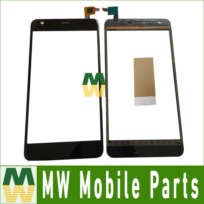 1PCS/ Lot For Highscreen Easy XL For Highscreen easy xl pro Touch Glass Touch Screen Digitizer Black Color with tape