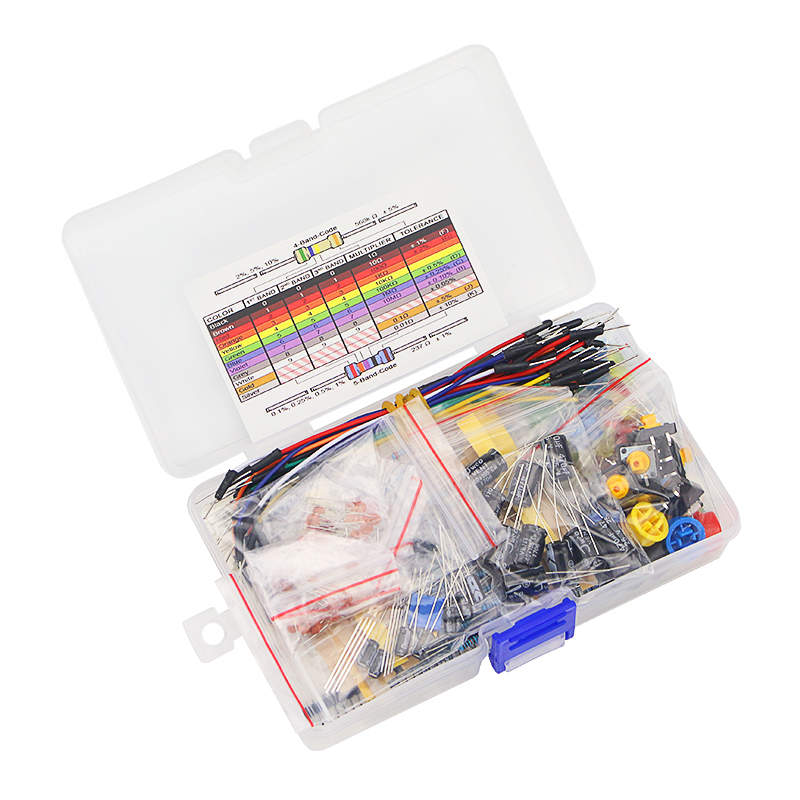Raspberry Pi Set LED Capacitor Resistor Jumper Wires Breadboard Starter Kit With Retail Box For UNO R3 For DIY
