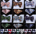 Paisley 100% seda Jacquard tejida hombres mariposa auto pajarita BowTie Pocket Square pañuelo pañuelo Set Suit # f7