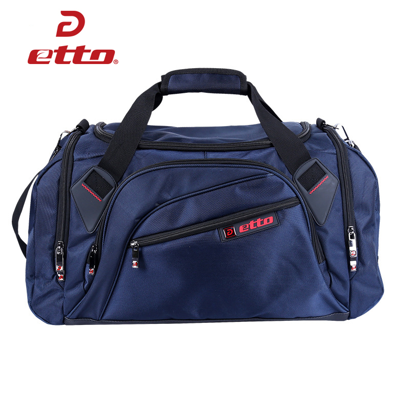 Etto Professional Large Sports Bag Gym Bag Men Women Independent Shoes Storage Training Bag Portable Shoulder