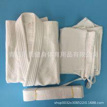 Jiujitsu judo Juego de entrenamiento de algodón puro, 450g, blanco, azul, estándar, abrigo de combate, pantalones, cinturón, porciones