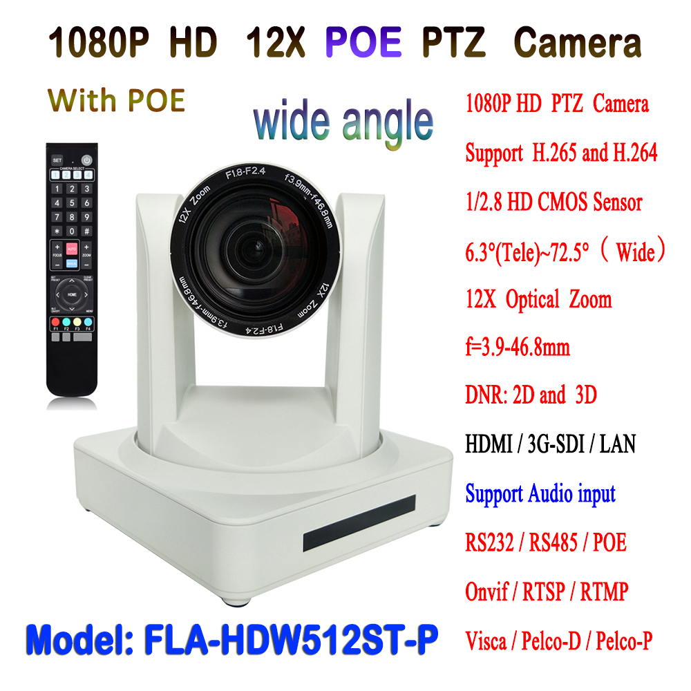 Live Video Streaming IP POE PTZ Camera Equipment HDMI 3G-SDI 12x Zoom for Church Speech Conference image